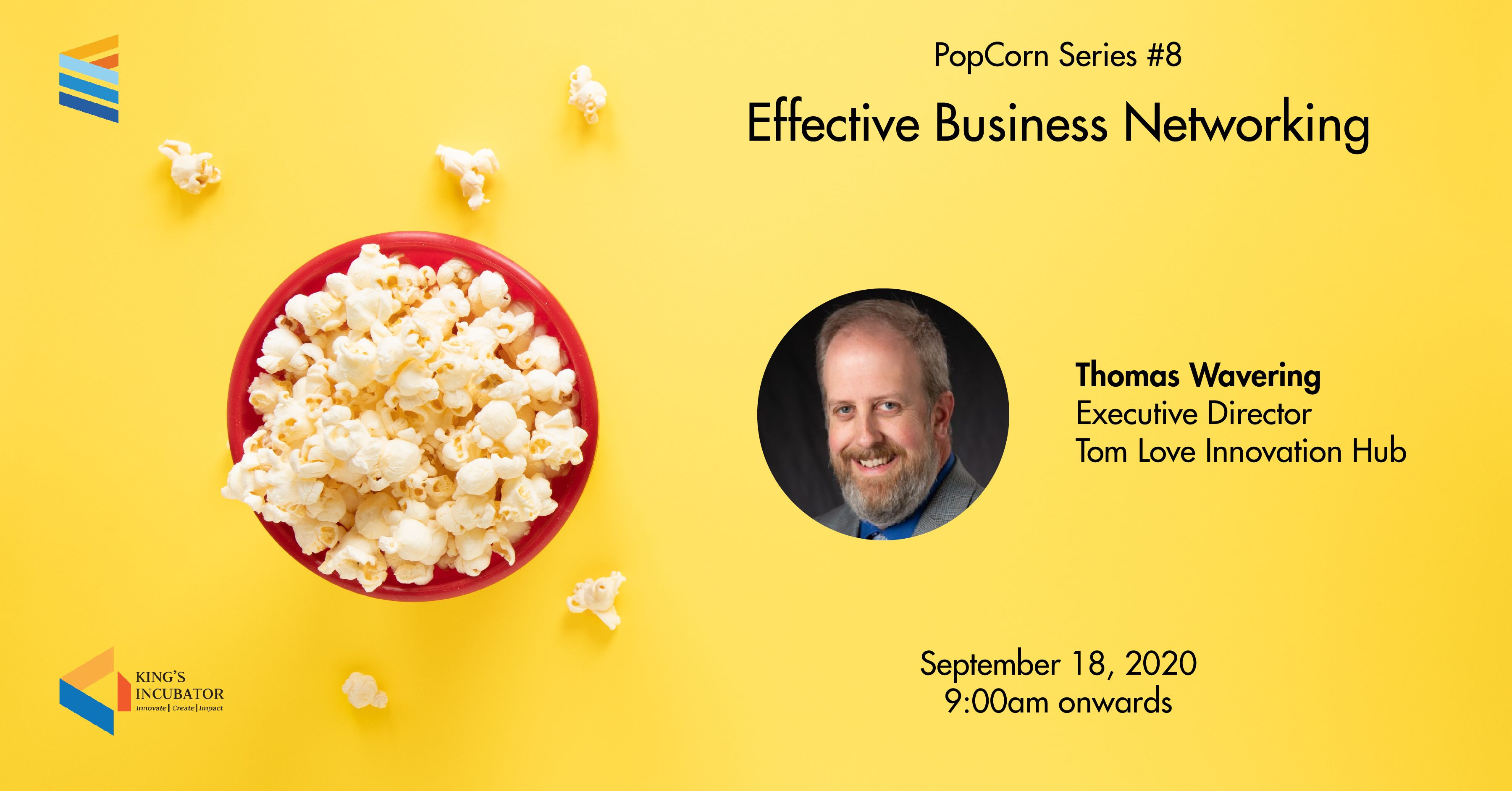 PopCorn Series 8: Effective Business Networking
