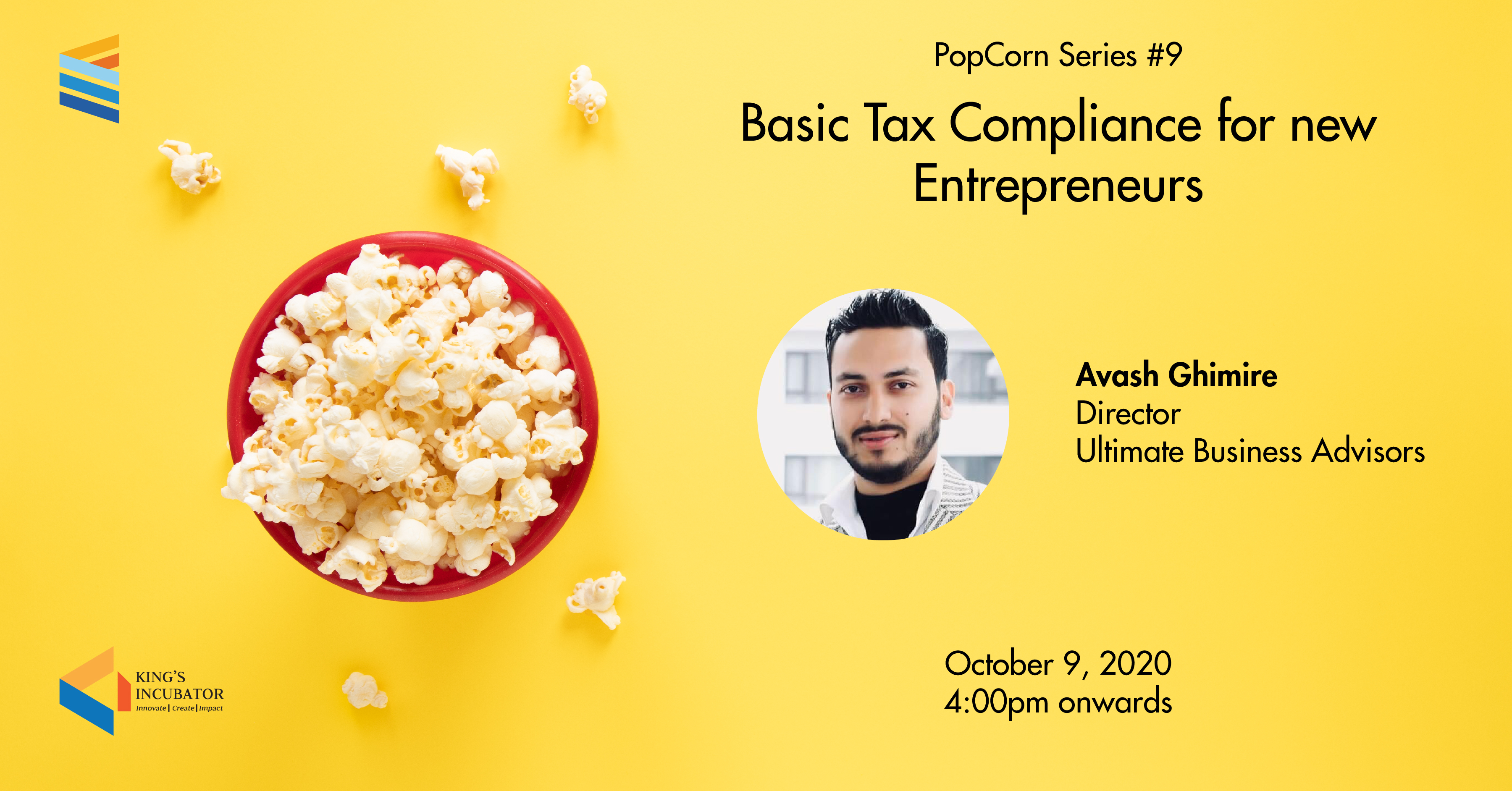 PopCorn Series 9: Basic Tax Compliance for New Entrepreneurs